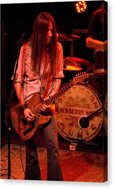 Blackberry Smoke Guitarist Charlie Starr Canvas Print