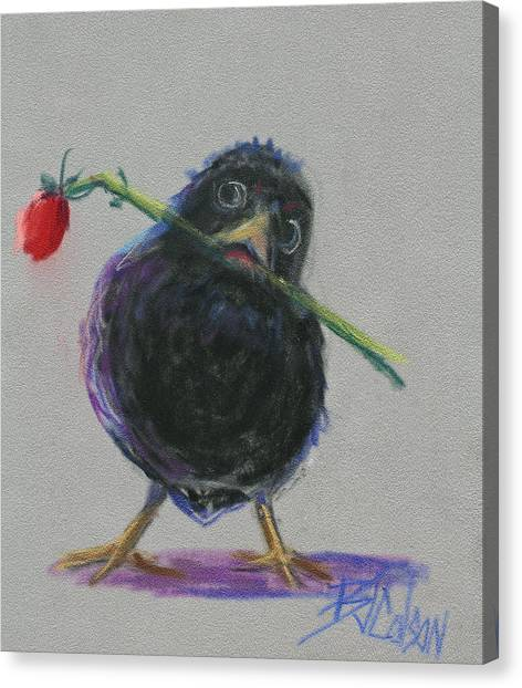 Blackbird Love Canvas Print