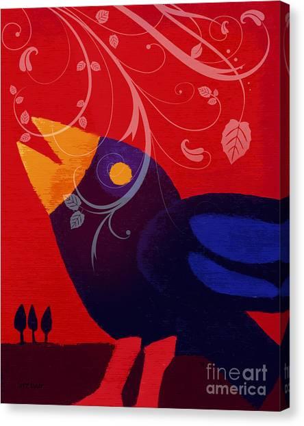 Blackbird Canvas Print by Lutz Baar