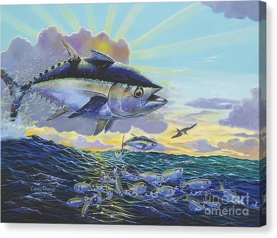 Tuna Canvas Print - Blackfin Bust Off00116 by Carey Chen