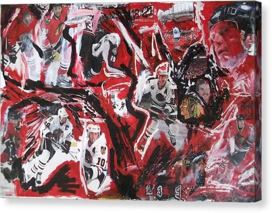 Patrick Kane Canvas Print - Blackhawks Mural by John Sabey Jr