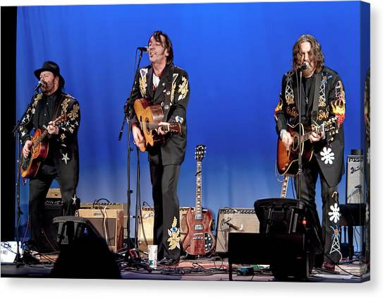 Folk Singer Canvas Print - Blackie And The Rodeo Kings by Randall Nyhof
