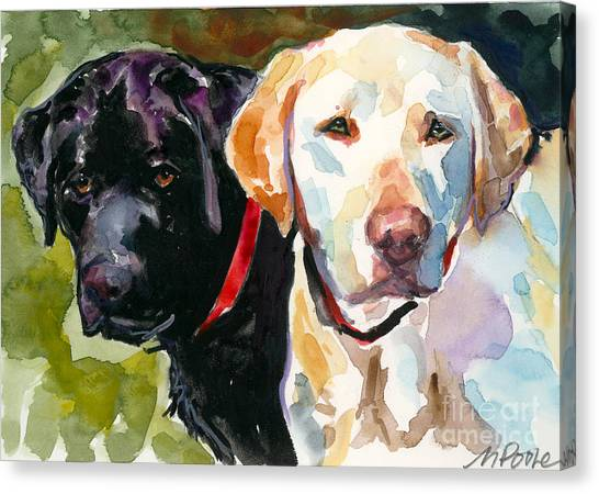 Yellow Lab Canvas Print - Blacklight by Molly Poole