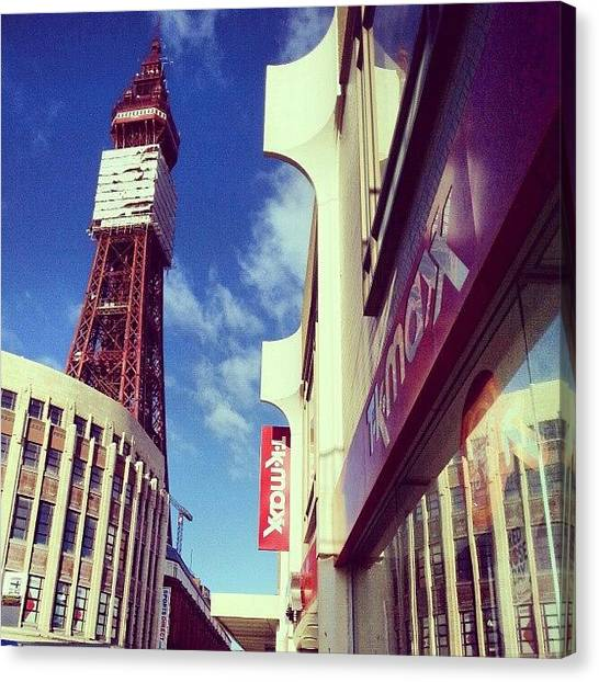 Europa Canvas Print - #blackpool #england #uk #tower #europa by Lee-scott Gardiner