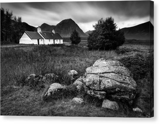 Old Houses Canvas Print - Blackrock Cottage by Dave Bowman