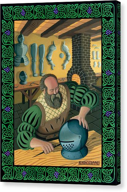 Blacksmith Armourer Canvas Print by Guy Radcliffe