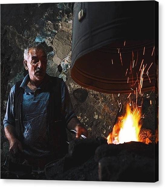 Hammers Canvas Print - Blacksmith At Work In The Kars Market by David  Hagerman