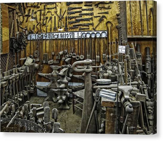 Jackhammers Canvas Print - Blacksmith Works - 19th Century by Daniel Hagerman