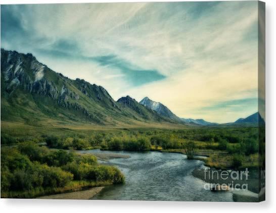 Yukon Canvas Print - Blackstone River  by Priska Wettstein