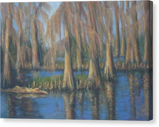 Blackwater Blue At Magnolia Gardens Canvas Print