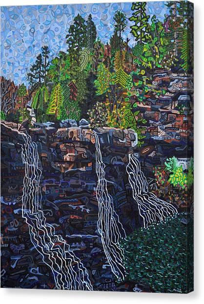Blackwater Falls Canvas Print by Micah Mullen
