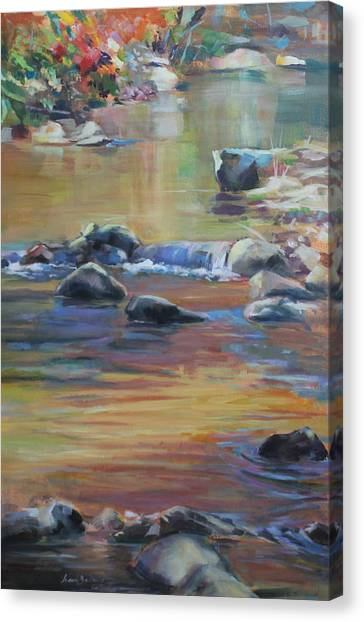Blackwater River In Autumn Canvas Print