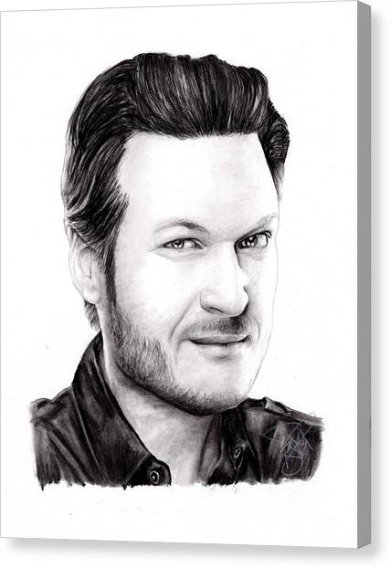 Blake Shelton Canvas Print by Rosalinda Markle