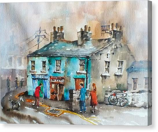 Blakes Corner Ennistymon Clare Canvas Print