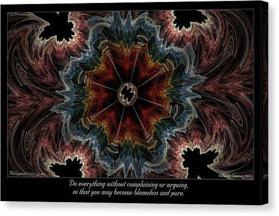 Blameless And Pure Canvas Print