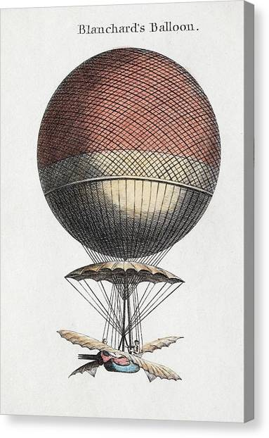 Aviators Canvas Print - Blanchard Balloon Flight by Paul D Stewart