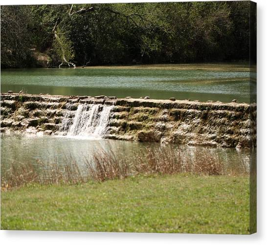 Blanco River Weir Canvas Print