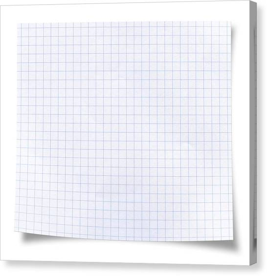Blank Square Rules Lined Paper Canvas Print by Tolga TEZCAN