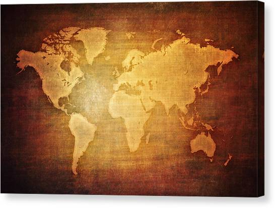 Texture map canvas prints page 12 of 45 fine art america texture map canvas print blank world map vintage by eti reid gumiabroncs Gallery