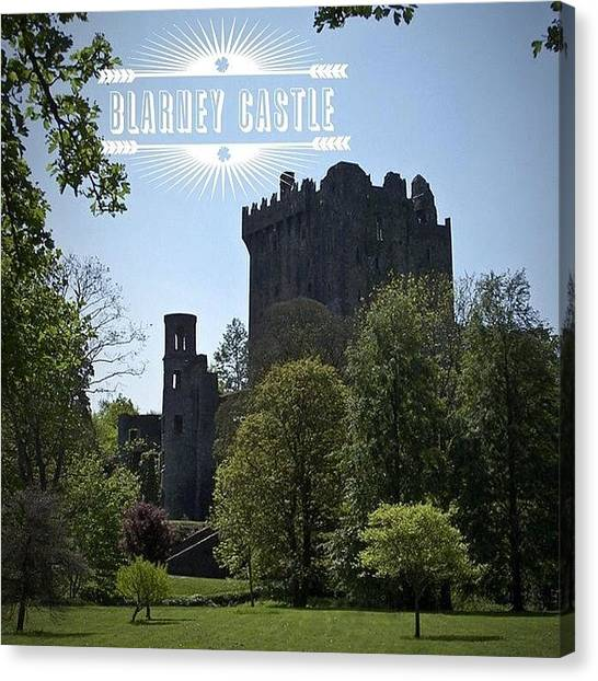 Fantasy Canvas Print - Blarney Castle Where You Must Kiss The by Teresa Mucha