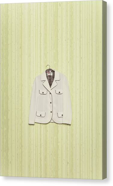 Coat Hanger Canvas Print - Blazer by Joana Kruse