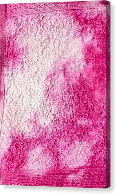 Flannel Canvas Print - Bleach Stains by Tom Gowanlock
