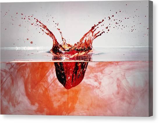 Bleeding Strawberry Canvas Print