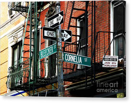 Bleeker And Cornelia Canvas Print by John Rizzuto