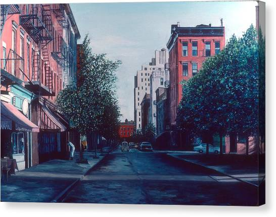 Fire Escapes Canvas Print - Bleeker Street by Anthony Butera
