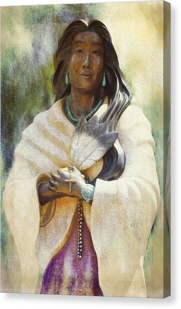 Blessed Kateri Tekakwitha  Canvas Print