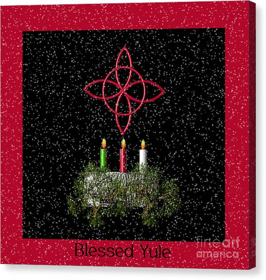 Blessed Yule Canvas Print