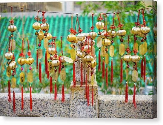 Wind Chimes Canvas Print - Blessing Wind Bells, Prayer Bells by Jason Langley