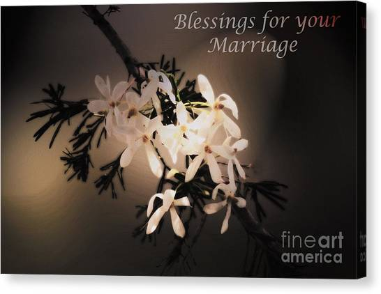 Blessings For Your Marriage Canvas Print