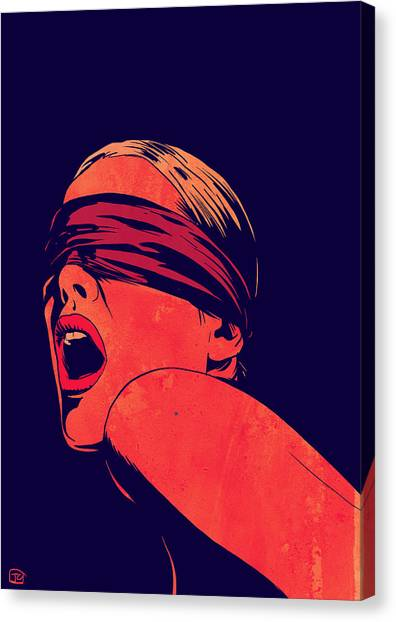 Erotic Canvas Print - Blindfolded by Giuseppe Cristiano