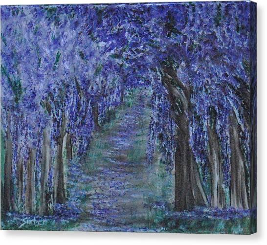 Blissful Walk Through Purple Canvas Print