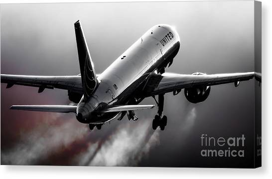 Airplanes Canvas Print - Blistering Performance by Alex Esguerra