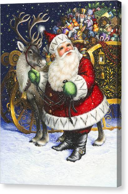 Reindeer Canvas Print - Blitzen by Lynn Bywaters