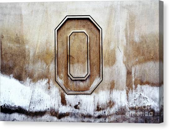 Ohio State University Canvas Print - Block O by Rachel Barrett