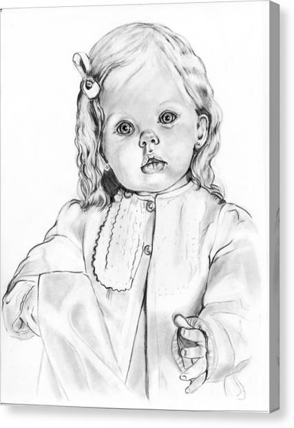 Blonde Doll Canvas Print