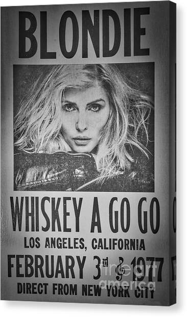 Whiskey Canvas Print - Blondie At The Whiskey A Go Go by Mitch Shindelbower