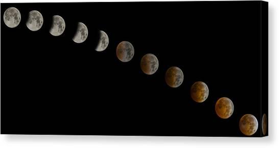 Blood Moon Canvas Print - Blood Moon Eclipse by Jeremy Jensen