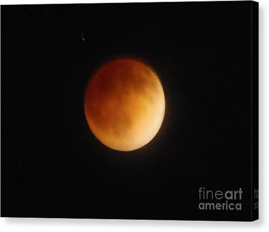 Blood Moon Canvas Print by Eclectic Captures