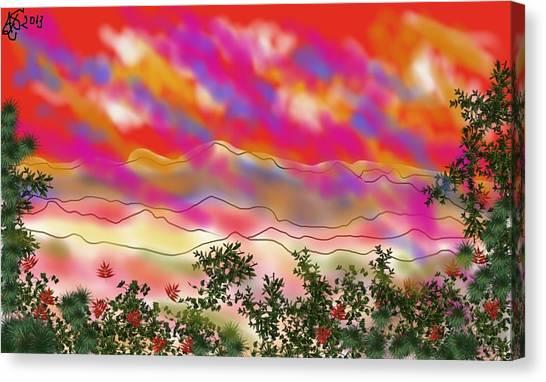 Blood Rain  Canvas Print