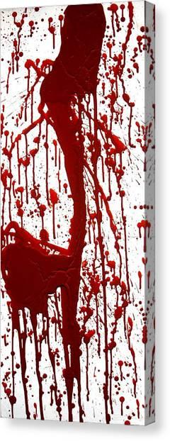 Blood Splatter II Canvas Print