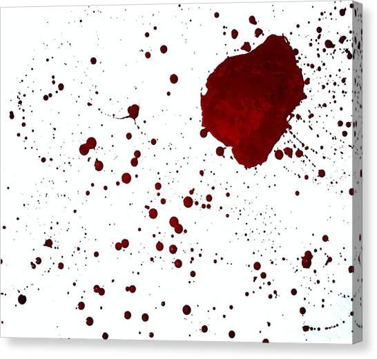 blood splatter PANCHAKARMA Canvas Print