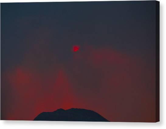 Blood Sun Canvas Print