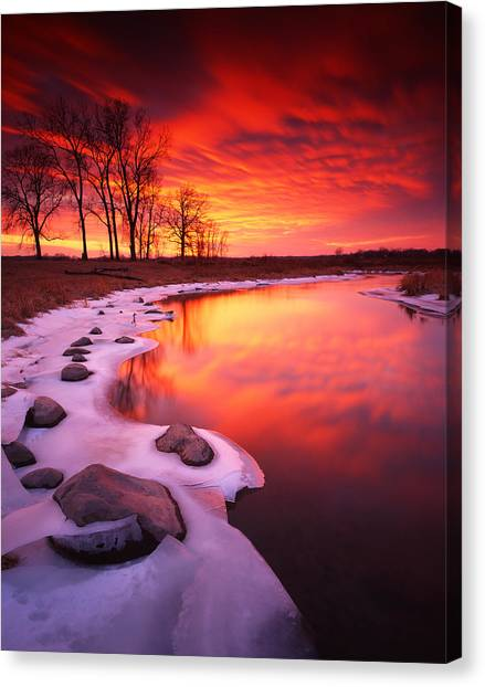 Blood Sunset Canvas Print