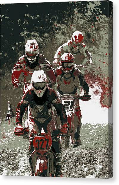 Blood Sweat And Dirt Canvas Print