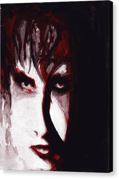 Robert Smith Music Canvas Print - Bloodflowers by Leia Sopicki