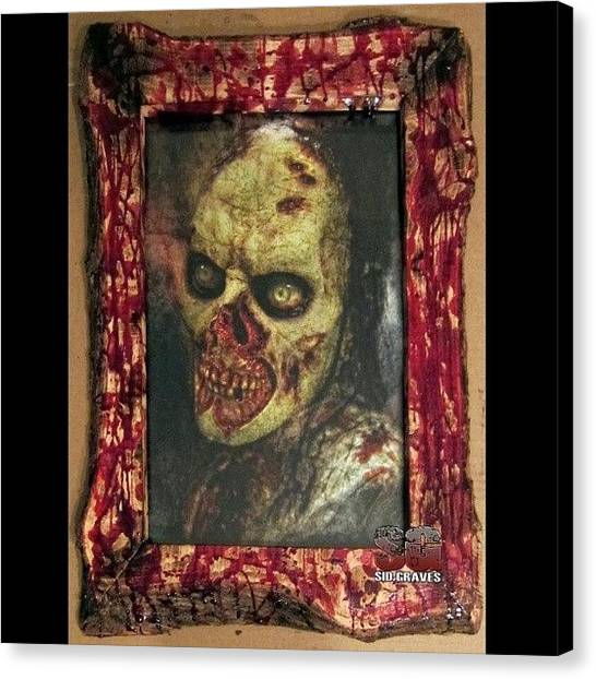 Stormtrooper Canvas Print - Bloody Horror Zombie Frames The Next by Sid Graves